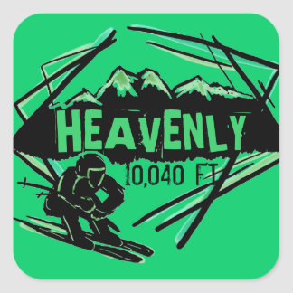 Heavenly California ski elevation stickers