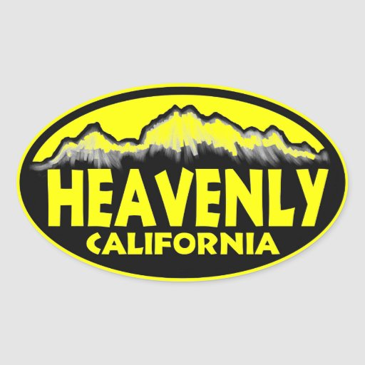 Heavenly California yellow oval stickers