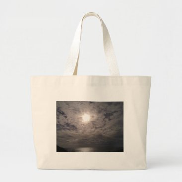 Beach Themed heavenly clouds large tote bag