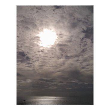 Beach Themed heavenly clouds letterhead