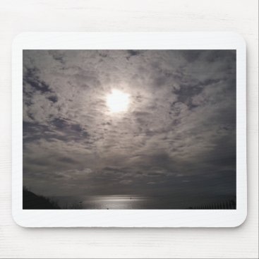 Beach Themed heavenly clouds mouse pad
