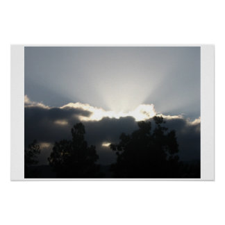 Heavenly Clouds Poster