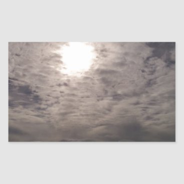 Beach Themed heavenly clouds rectangular sticker