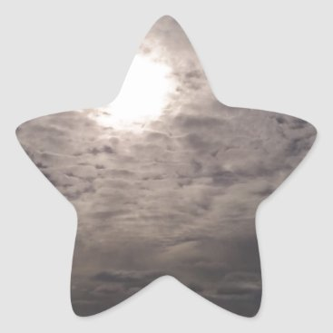 Beach Themed heavenly clouds star sticker