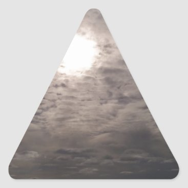 Beach Themed heavenly clouds triangle sticker