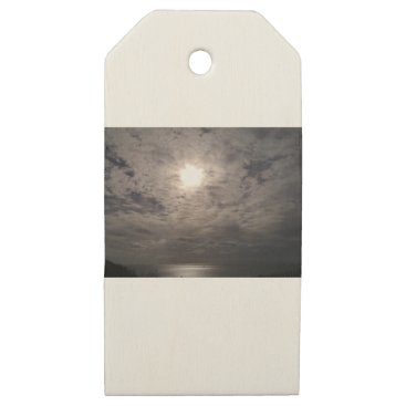 Beach Themed heavenly clouds wooden gift tags