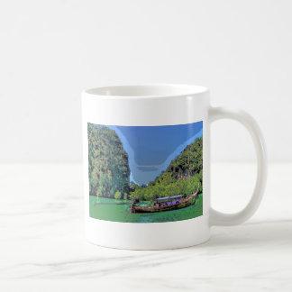 heavenly cove classic white coffee mug