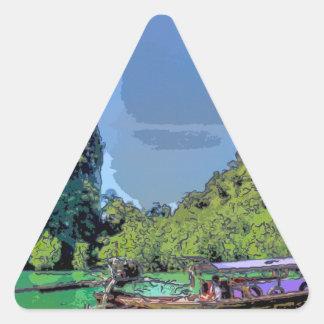 heavenly cove triangle sticker