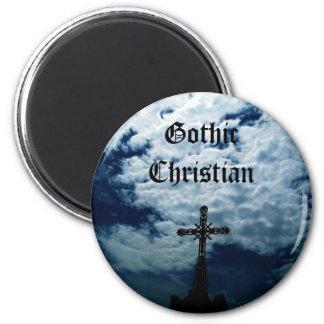 Heavenly cross Gothic Christian magnet
