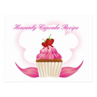 Heavenly Cupcake Recipe Postcard