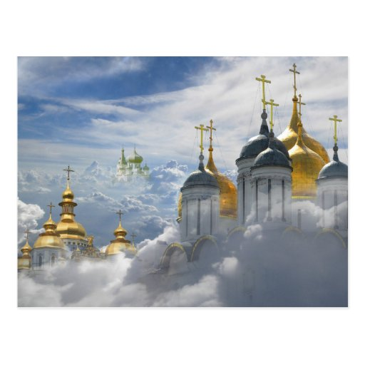 Heavenly Domes - Easter postcard