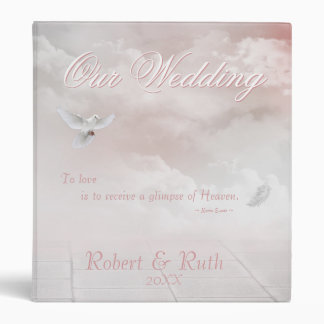 Heavenly Dove 3 Ring Binder