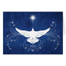 Heavenly Dove Christmas Card at Zazzle