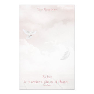 Heavenly Dove Customized Stationery