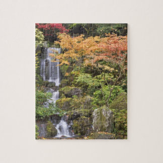Heavenly Falls and autumn colors Jigsaw Puzzle
