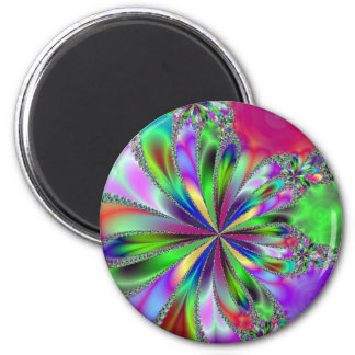 Heavenly Fractal Ribbons Print Magnet