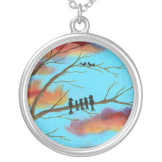 Heavenly Gifts Round Pendant Necklace Art