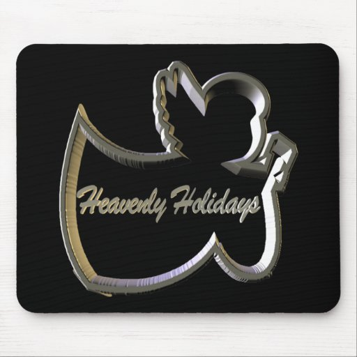 Heavenly Holidays Angel Mouse Pads