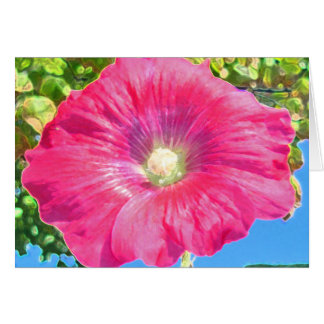 Heavenly Hollyhock Card