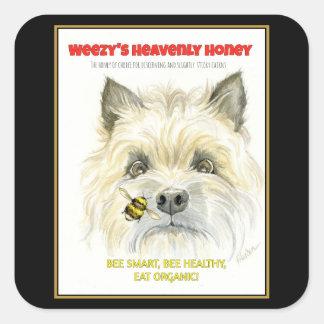 Heavenly Honey Terrier Stickers
