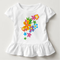 Heavenly Hula Hawaiian Flowers Girls Toddler T-shirt