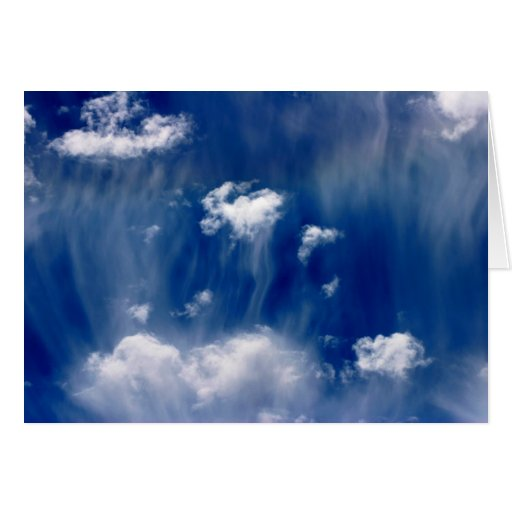 Heavenly Jellyfish Clouds Card
