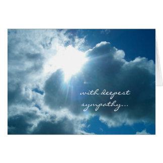 Heavenly light sympathy card