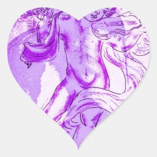 Heavenly music, glad Christmas Heart Sticker