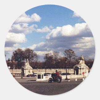 Heavenly Paris Round Sticker