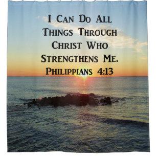 HEAVENLY PHILIPPIANS 413 BIBLE VERSE SHOWER CURTAIN