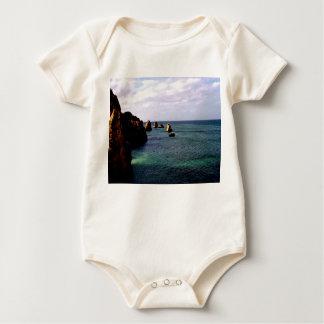 Heavenly Portugal Ocean - Teal & Azure Baby Bodysuit