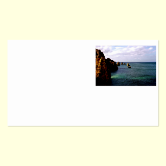 Heavenly Portugal Ocean - Teal & Azure Double-Sided Standard Business Cards (Pack Of 100)