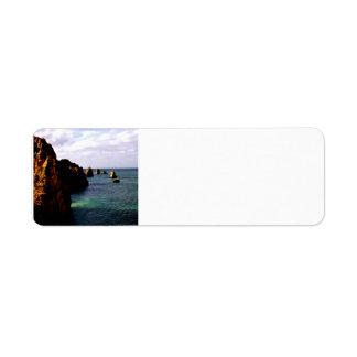 Heavenly Portugal Ocean - Teal & Azure full Return Address Label