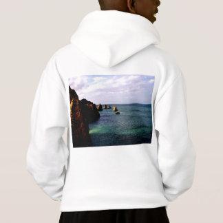 Heavenly Portugal Ocean - Teal & Azure Hoodie