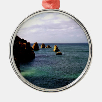 Heavenly Portugal Ocean - Teal & Azure Metal Ornament