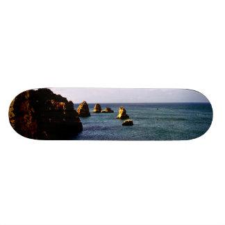 Heavenly Portugal Ocean - Teal & Azure Skateboard Deck