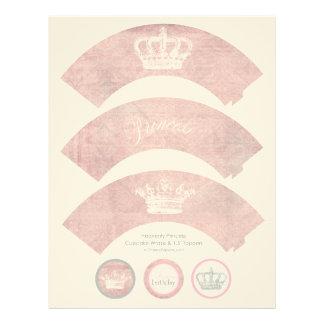 Heavenly Princess Cupcake Wraps & Toppers Letterhead
