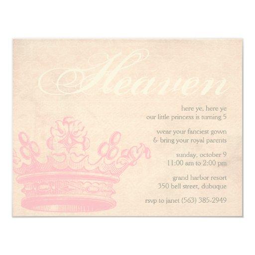 Heavenly Princess Invitations