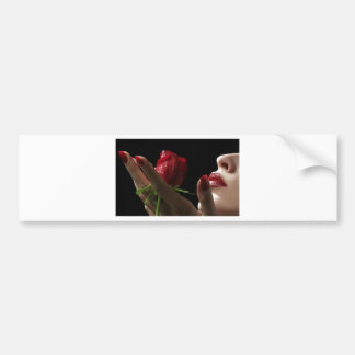 Heavenly Red Rose scent of Amour, Love, Desire Car Bumper Sticker