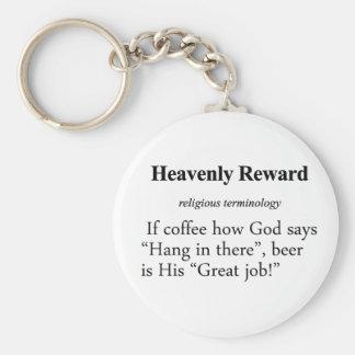 Heavenly Reward Definition Basic Round Button Keychain