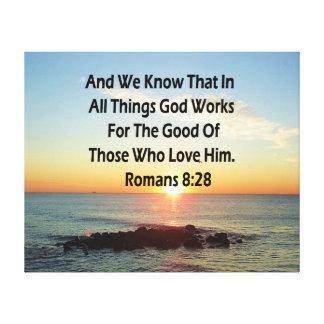 HEAVENLY ROMANS 8:28 BIBLE VERSE CANVAS PRINT