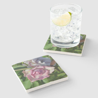 Heavenly Rose Abstract Stone Coaster
