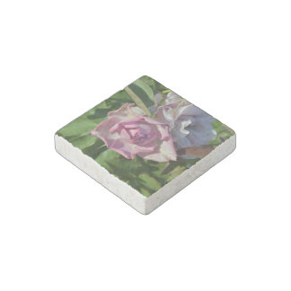 Heavenly Rose Abstract Stone Magnet