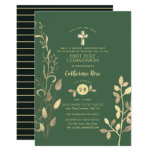 Heavenly Sage Holy Communion Invitation Gold Leaf