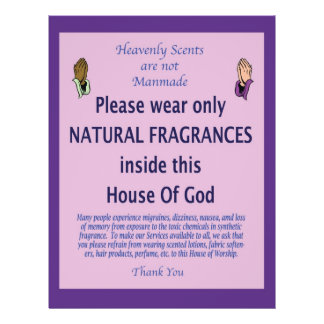 "Heavenly Scent purple prayer 8.5"" X 11"" Flyer"