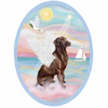 Heavenly Sea  -Chocolate Labrador Standing Photo Sculpture
