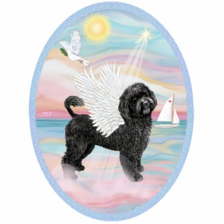 Heavenly Sea-Portuguese Water Dog #8 (black) Standing Photo Sculpture