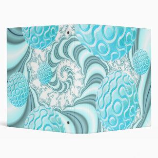 Heavenly Sea Shells, Abstract Pastel Beach Vinyl Binders