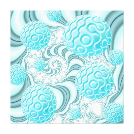Heavenly Sea Shells, Abstract Pastel Beach Canvas Print
