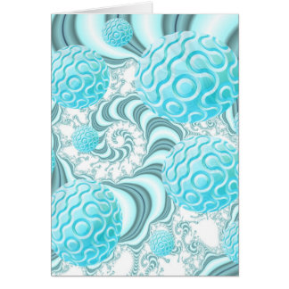 Heavenly Sea Shells, Abstract Pastel Beach Greeting Card